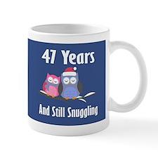 Cute 47th Anniversary Snuggly Owls Mugs