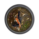 Mermaid art Wall Clocks