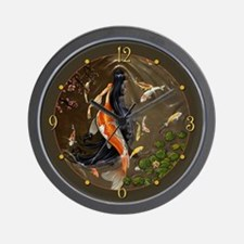 Koi Mermaid Wall Clock
