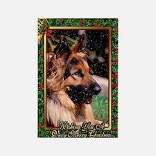Long Haired German Shepherd Dog C Rectangle Magnet