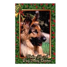 Long Haired German Shephe Postcards (Package of 8)