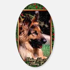 Long Haired German Shepherd Dog Chr Decal
