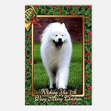 Samoyed Dog Christmas Postcards (Package of 8)