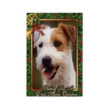 Jack Russell Terrier Dog Christma Rectangle Magnet