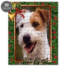Jack Russell Terrier Dog Christmas Puzzle