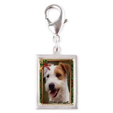 Jack Russell Terrier Dog Chr Silver Portrait Charm