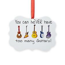 Too many guitars Ornament