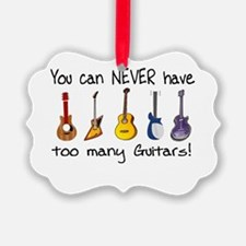 Too many guitars Ornament
