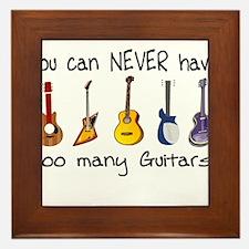Too many guitars Framed Tile
