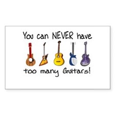 Too many guitars Decal