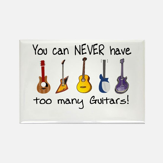Too many guitars Magnets