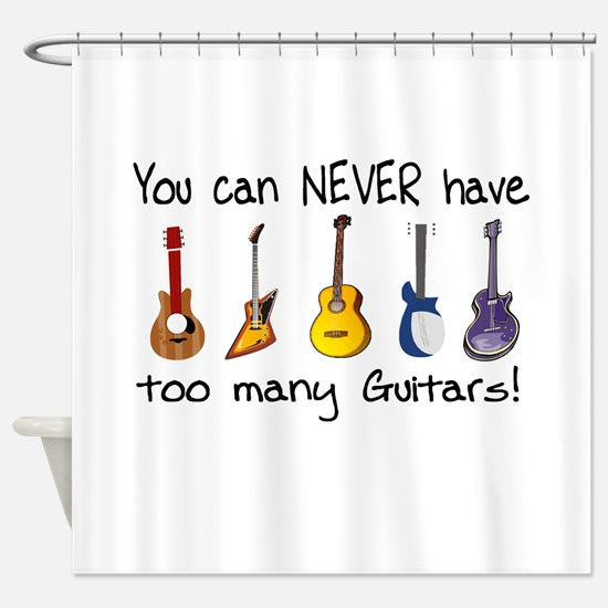 Too many guitars Shower Curtain