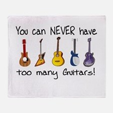 Too many guitars Throw Blanket