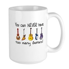 Too many guitars Mugs