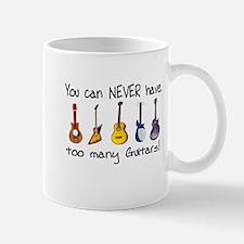 Too many guitars Mugs