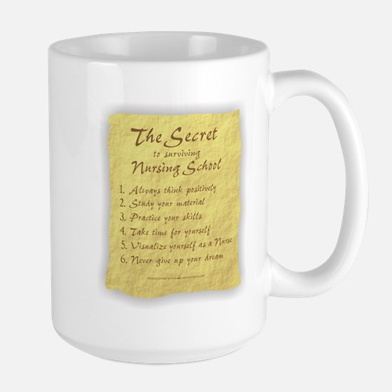 The Secret to Nursing School Large Mug