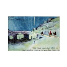 Joyous Christmas Greetings Wise M Rectangle Magnet