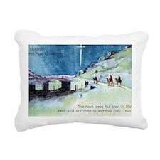 Joyous Christmas Greetin Rectangular Canvas Pillow