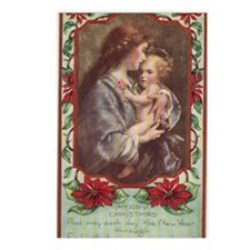 Merry Christmas Virgin An Postcards (Package of 8)