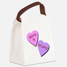 Boys R Stupid Canvas Lunch Bag