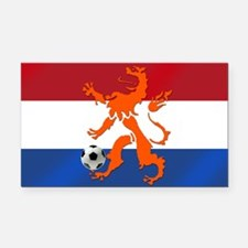 Netherlands Soccer Rectangle Car Magnet