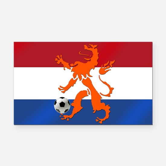 Netherlands Soccer Rectangle Car Magnet