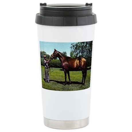 Thoroughbred Racehorse Stainless Steel Travel Mug