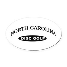 North Carolina Disc Golf Oval Car Magnet