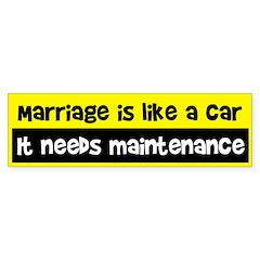 Marriage Bumper Bumper Sticker