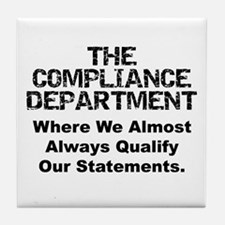 Qualified Compliance Tile Coaster