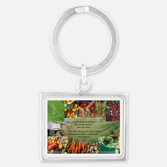 Food Gratitude Prayer Landscape Keychain