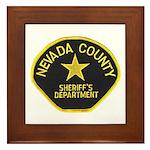 Nevada County Sheriff Framed Tile