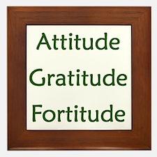 Attitude, Gratitude, Fortitude Framed Tile