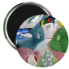 Chagalls Cats Magnet