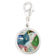 Chagalls Cats Silver Round Charm