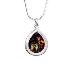 storm Silver Teardrop Necklace