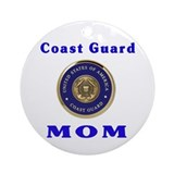Coast guard christmas mom Round Ornaments