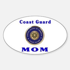 COAST GUARD MOM Oval Decal