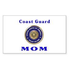 COAST GUARD MOM Rectangle Decal