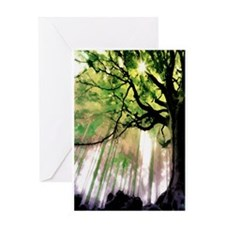 green trees 001 Greeting Card