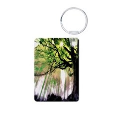 green trees 001 Keychains