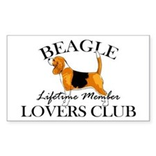 Beagle Lover's Club Decal