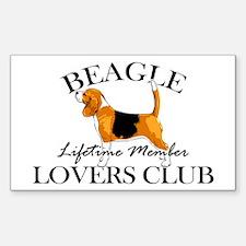 Beagle Lover's Club Sticker (Rectangle)