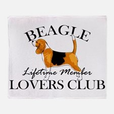 Beagle Lover's Club Throw Blanket