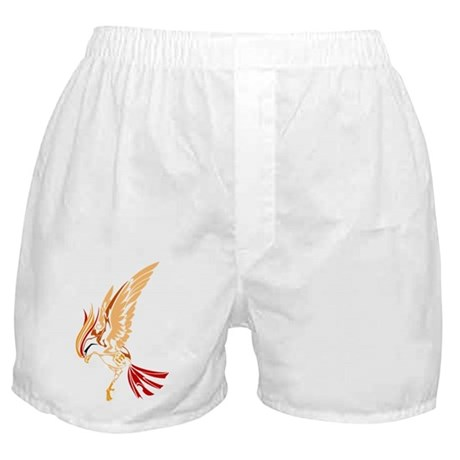 Tribal style bird Boxer Shorts