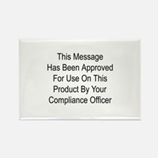 Compliance Approval Rectangle Magnet