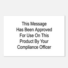 Compliance Approval Postcards (Package of 8)