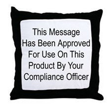 Compliance Approval Throw Pillow