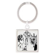 Classic movie monsters Square Keychain
