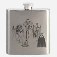 Classic movie monsters Flask